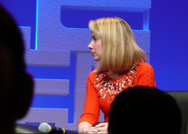 Google's Marissa Mayer believes pre-emptive search could complement traditional web browsing  (Photo credit: Natasha Lomas/silicon.com)